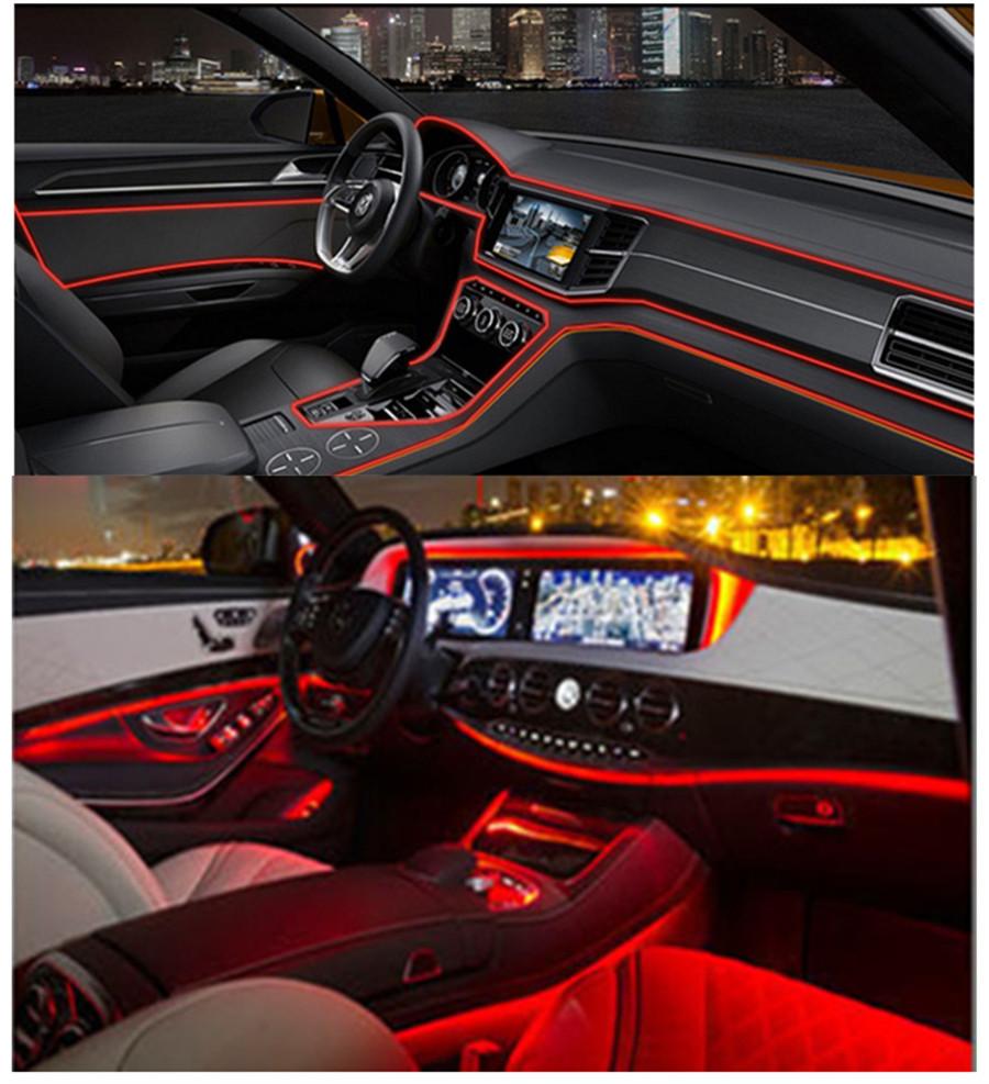 4m red auto car interior led ambient light decor atmosphere optical fiber light 6773961862225 ebay. Black Bedroom Furniture Sets. Home Design Ideas