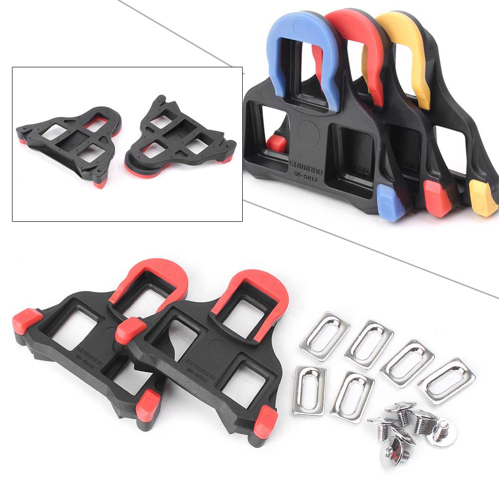 Shimano SM-SH10//11//12 Cleat set 2//6 degree Float SPD-SL Road Bike Pedal Cleats