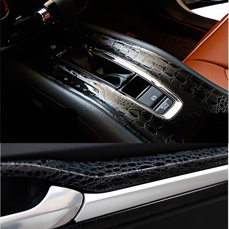 crocodile leather grain car vinyl wrap sticker car interior decal film 2017 new ebay. Black Bedroom Furniture Sets. Home Design Ideas
