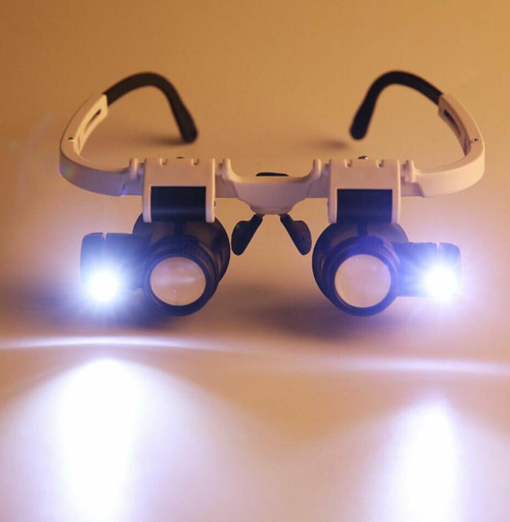 1 X Uhrmacher Werkzeug Lupen Licht Gläser Lupe Brillenlupe Lupenbrille Glasses