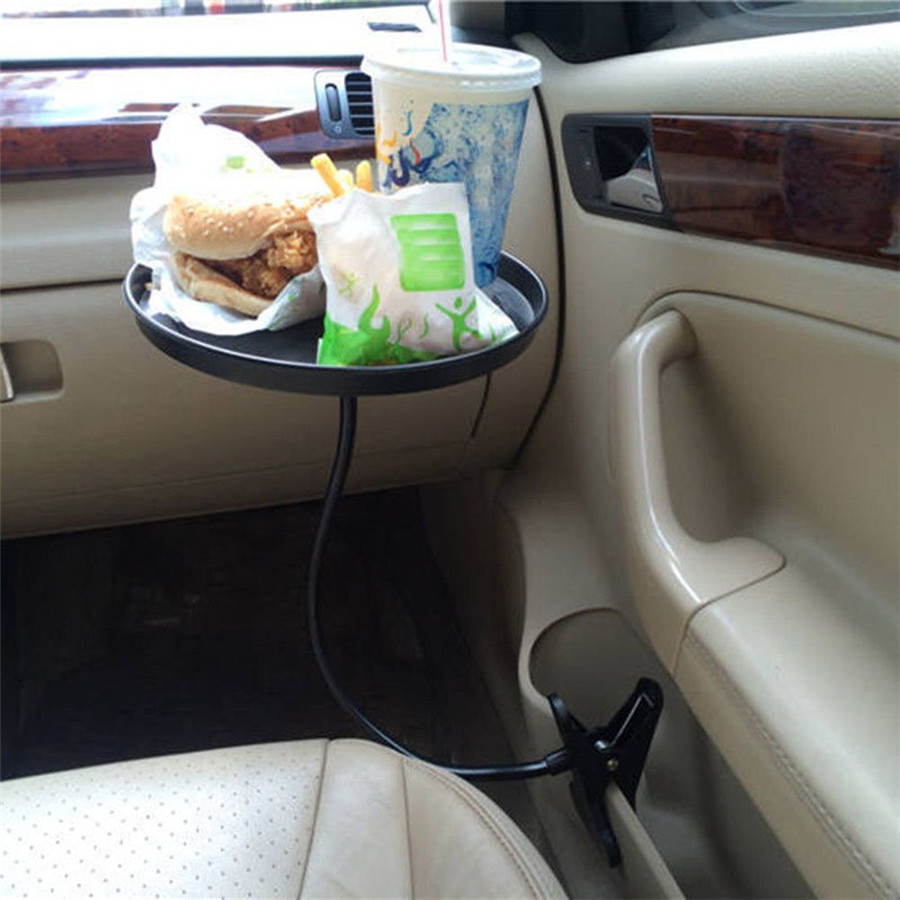"8.86/"" Auto Car Travel Food Drink Cup Holder Stand Table Eating Tray 360° Swivel"