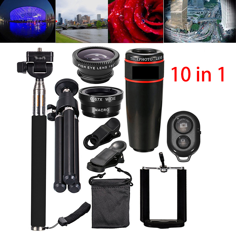 Details about Phone Camera Lens Top Travel Kit For Mobile Smart CellPhone  Telescope 10 in 1