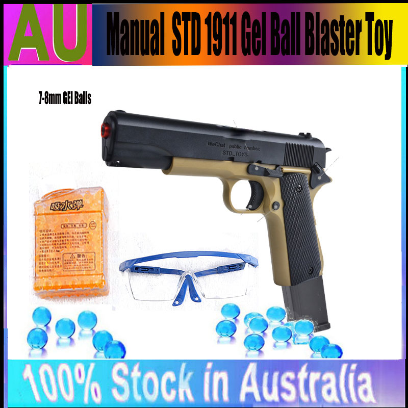 Details about Gel Blaster STD 1911 Gel Ball Blaster Gun Gelsoft Water  Bullets Outdoor Game