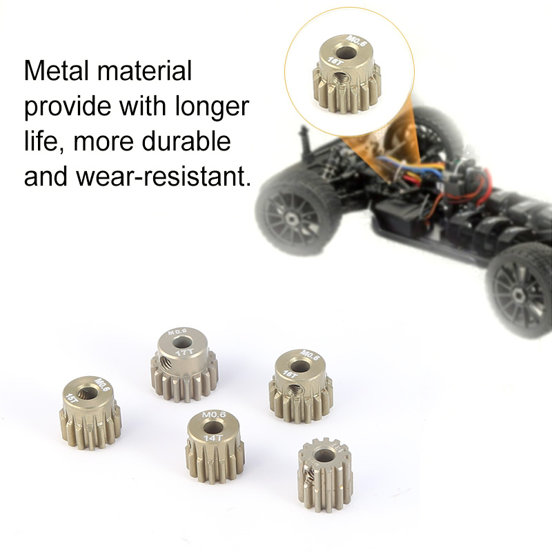 SURPASS HOBBY M1 14T 15T 16T Pinion Motor Gear Set for 1//8 RC Car Buggy Motor