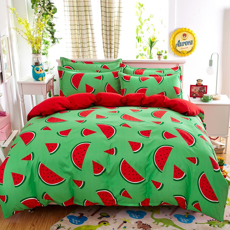 Fruit Watermelon Bedding Set Twin Full Queen King Duvet