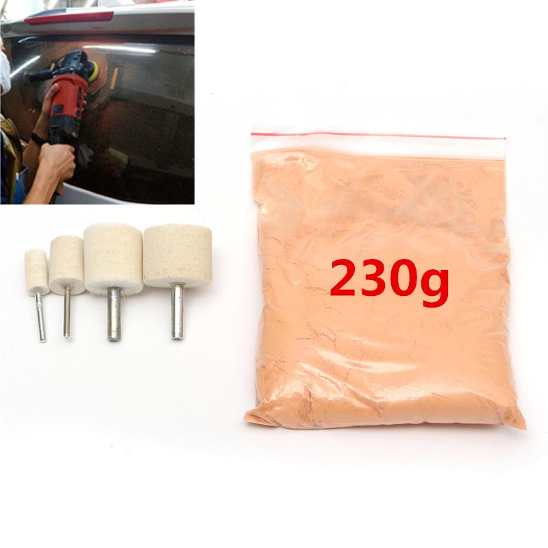 auto politur werkzeug fenster kratzer reparatur 230g polierpulver mit 4x teller ebay. Black Bedroom Furniture Sets. Home Design Ideas