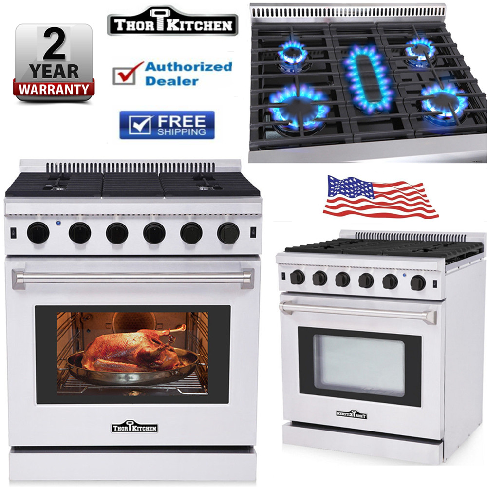 Details About Thor Kitchen 30 Lrg3001u Stainless Steel Gas Range Oven 5 Burner Cooking Hot
