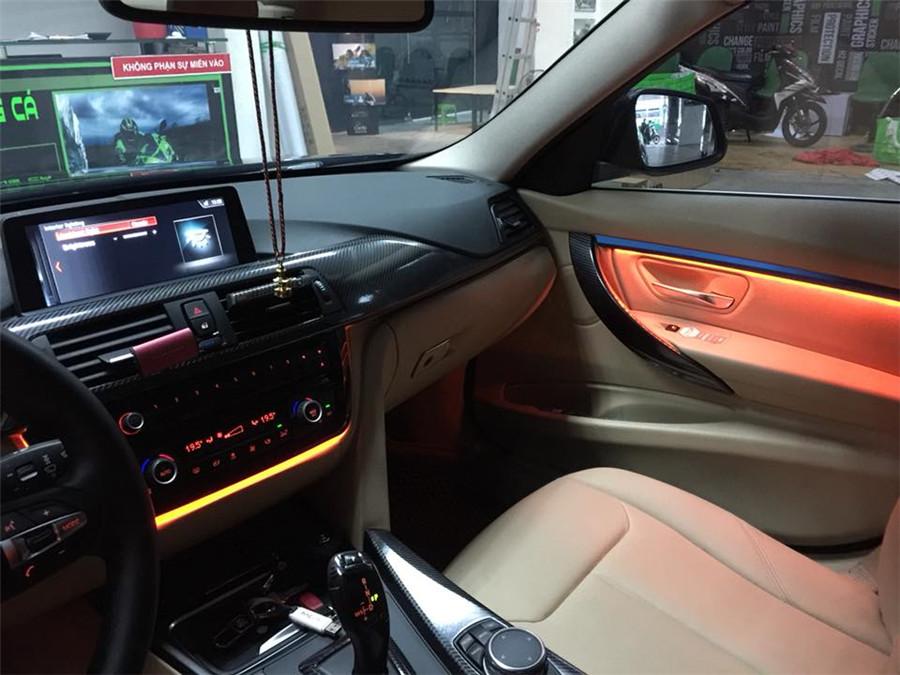dual color car interior door panel + central control led