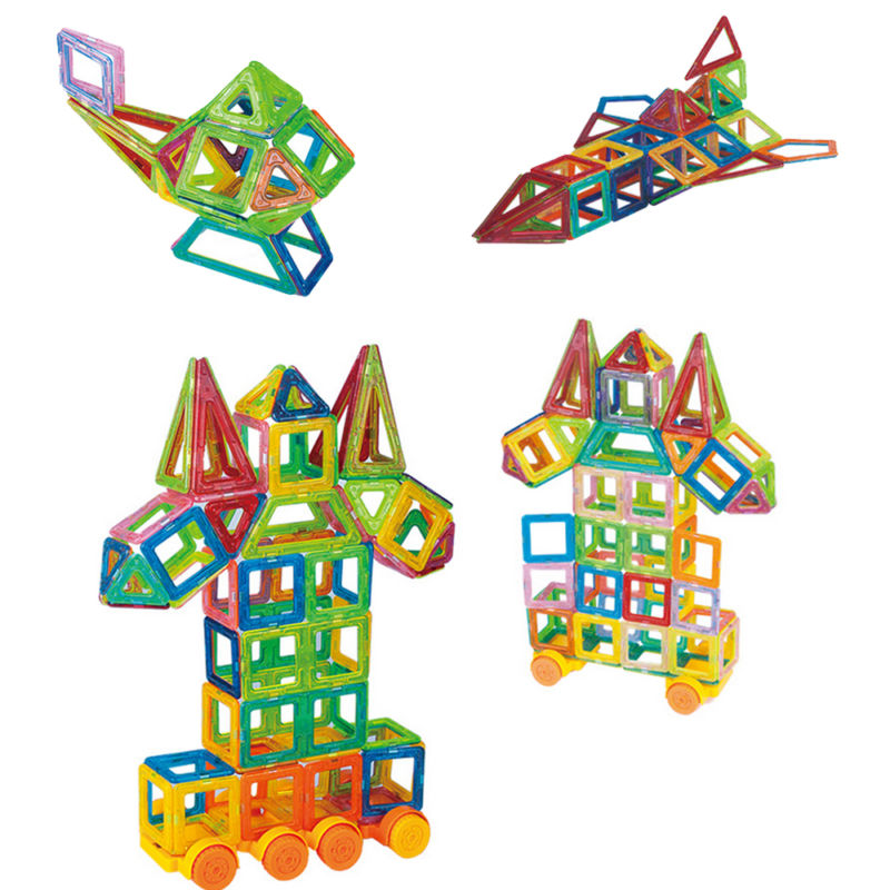 86x Magnetic Building Blocks Build Kit Toys Kid Playing Stacking Game Box Manual
