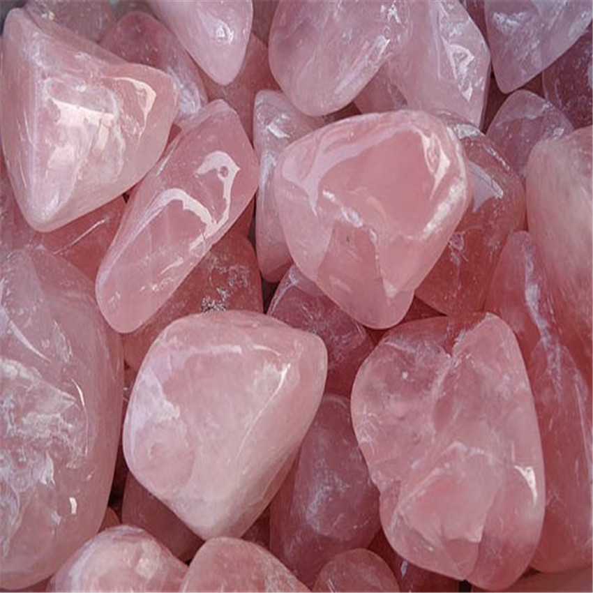 Pink Crystal Ore Crushed Gravel Stone Chunk Lots Degaussing Gemstone lovely