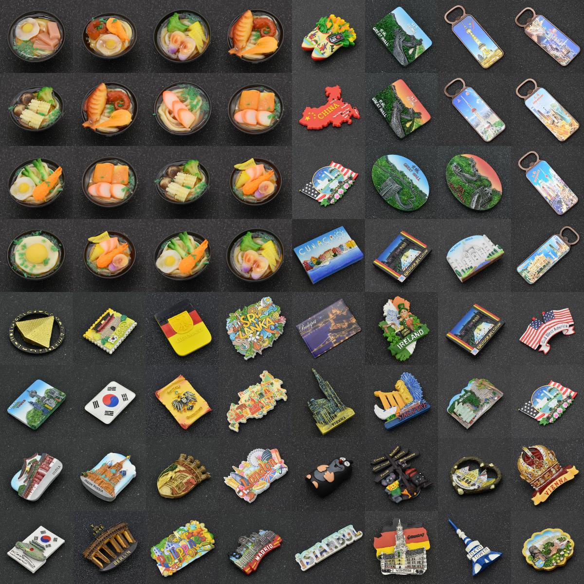Kawaii Reise Andenken Kühlschrankmagnet Magnet Sticker UK US DE Kühlschrank Deko