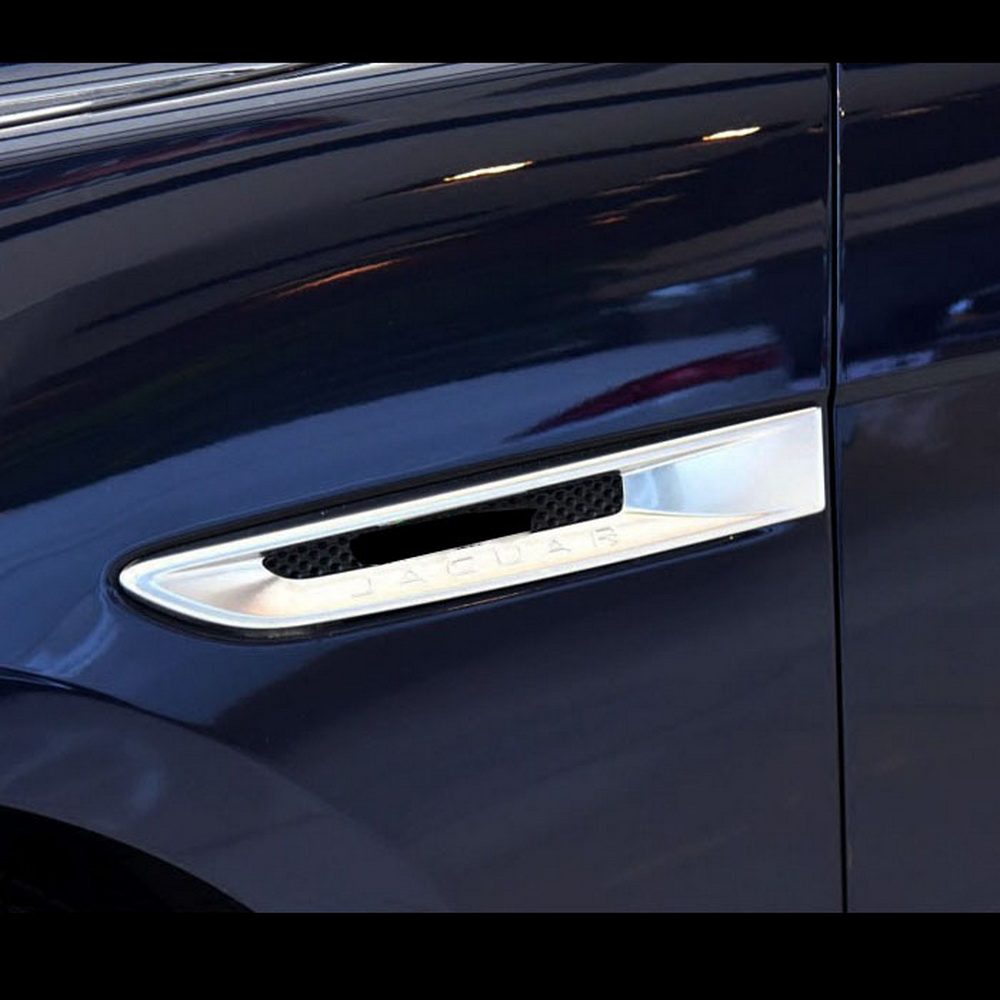 For Toyota RAV4 2016 2017 2018 Chrome Front Side Leaf Fender Air Vent Cover Trim