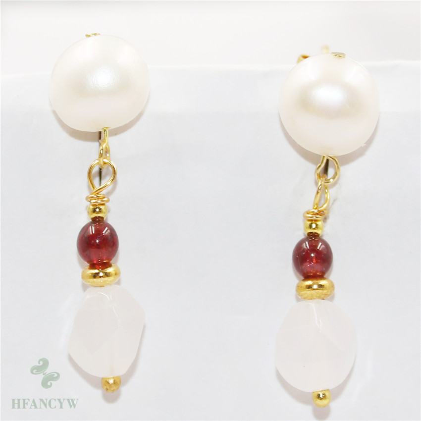 AAA 9-10 mm round South Sea Black Pearl Dangle Boucle d/'oreille 14K or jaune