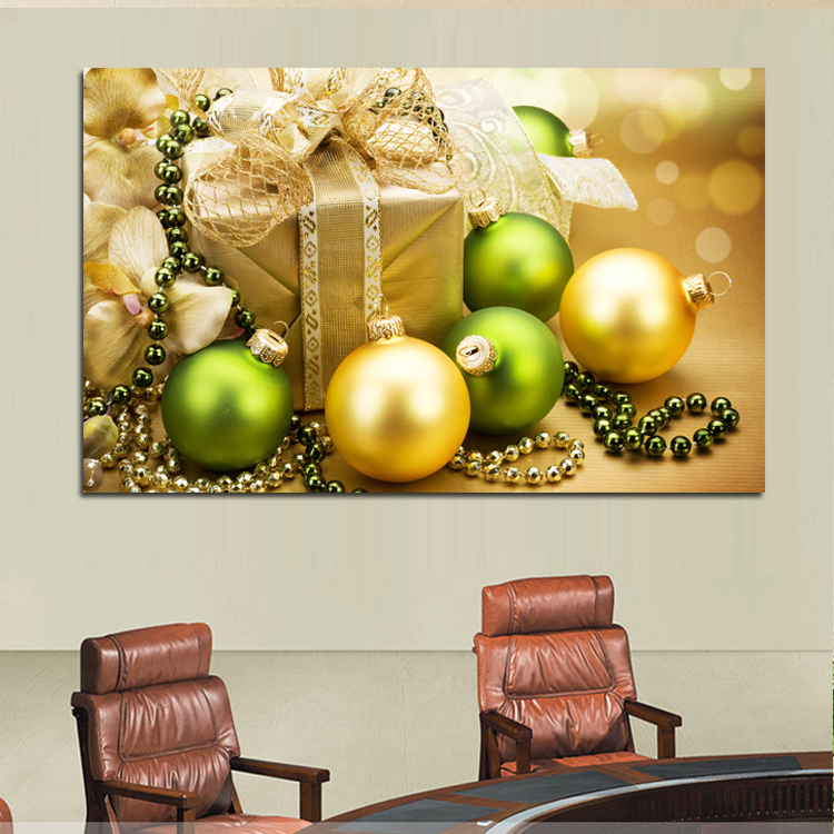 Christmas Art Oil Landscape Painting Canvas Print Wall Art Home ...