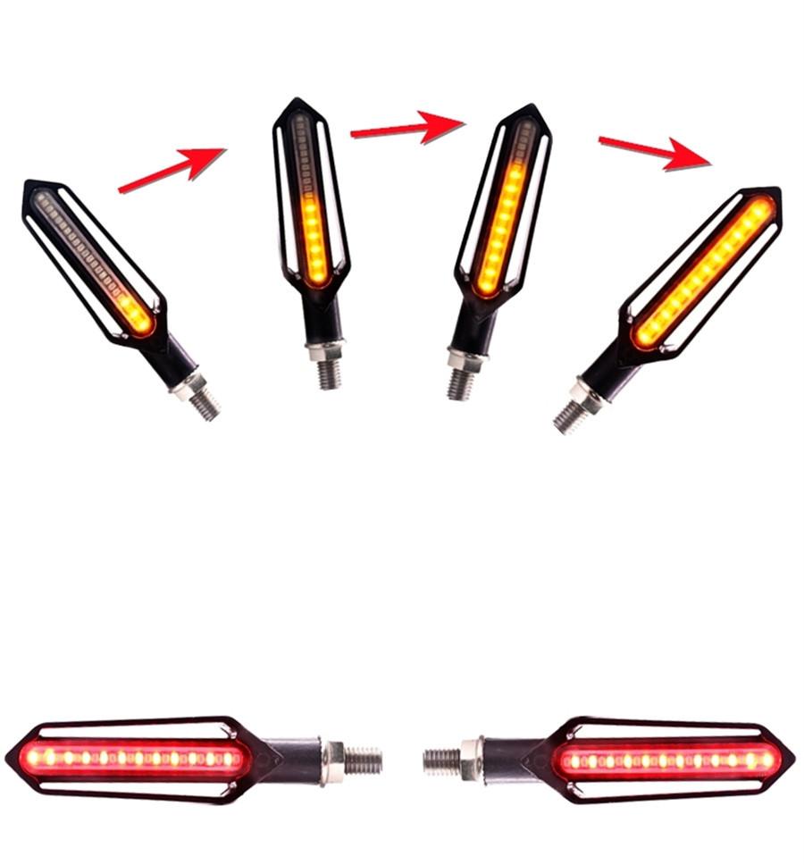 4pcs 24 Led 2in1 Motorcycle Taillight Flasher Strobe Turn Signal 12v Headlight Flashing Circuit Car Tail Indicator Light