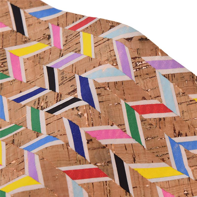 Kork Stoffe für Puppe Tasche DIY Nähen A4 Farbig Gestreift Handarbeit Dekostoff