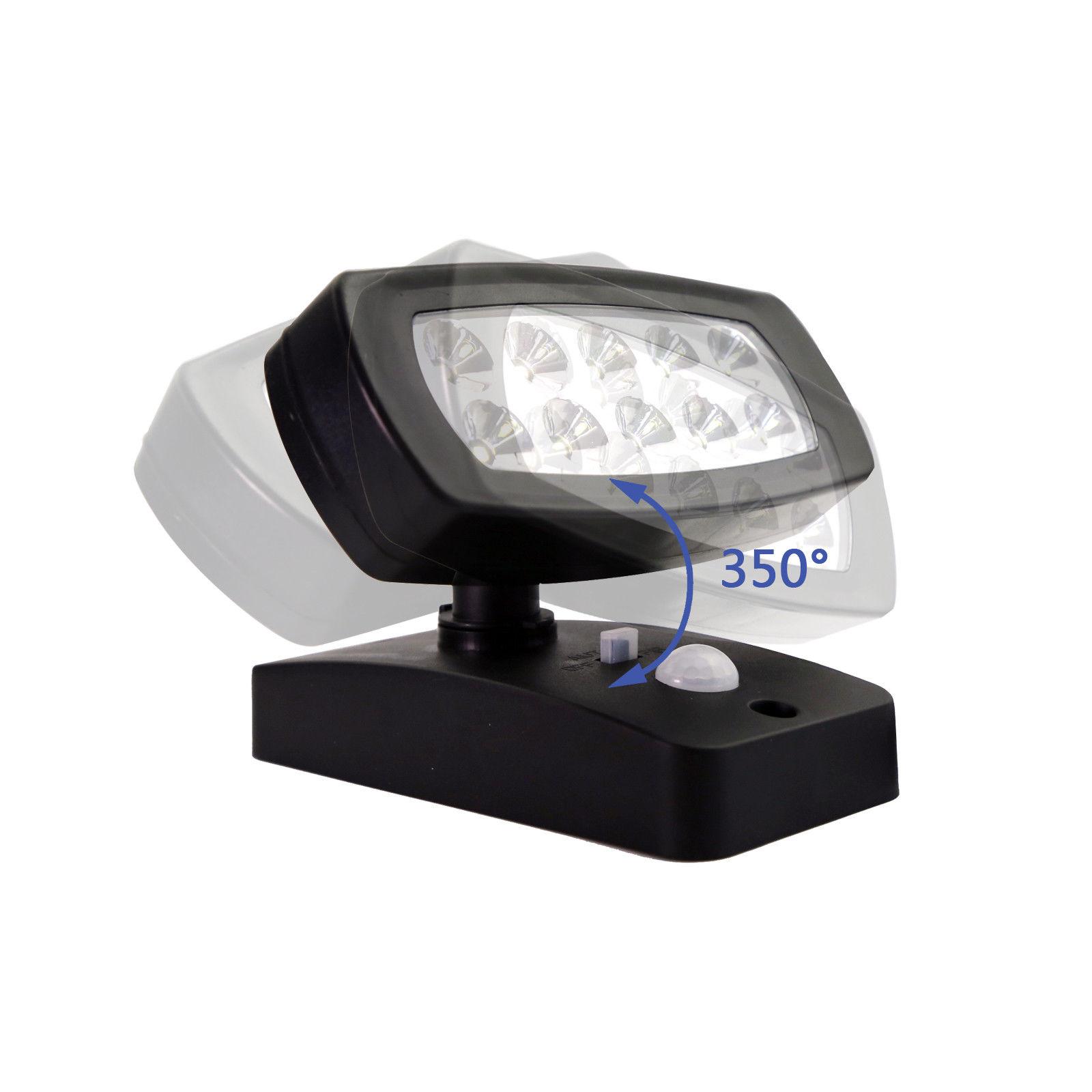 10led solar lampe solarleuchte mit bewegungsmelder au en fluter sensor strahler ebay. Black Bedroom Furniture Sets. Home Design Ideas