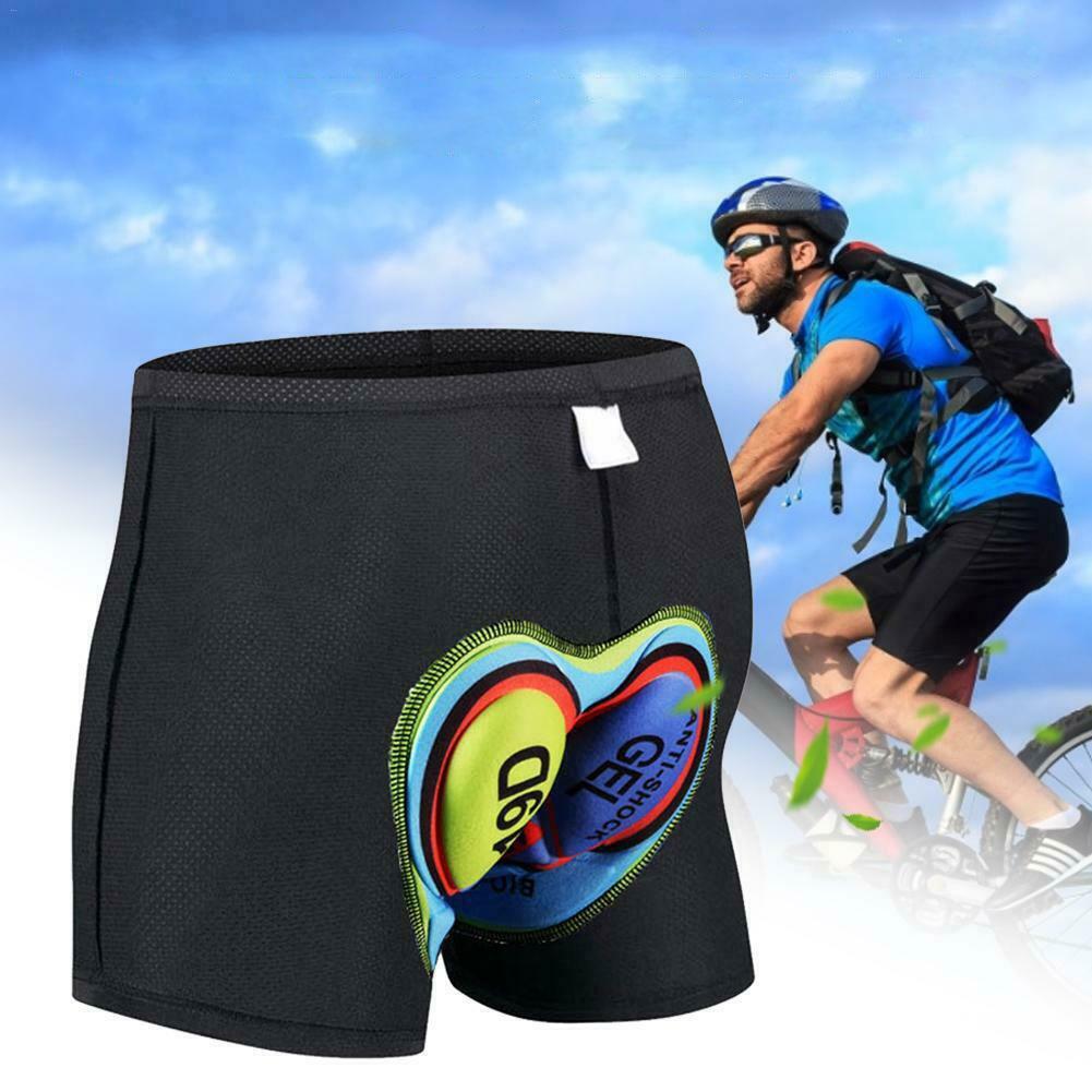 Gel 3D Padded Men Women Cycling Underwear Bicycle Riding Shorts Black Pants UK