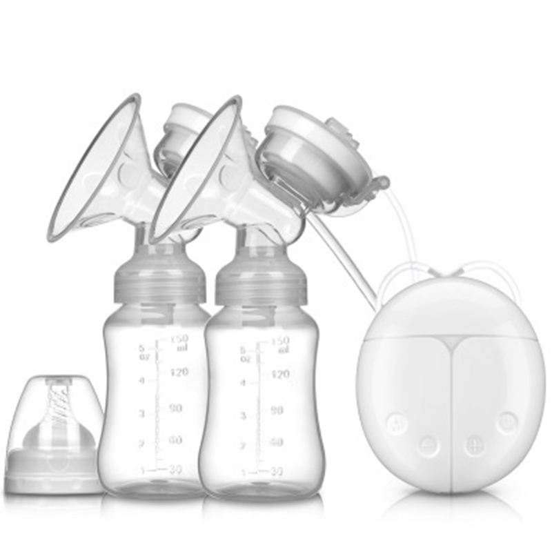 Double Electric Breast Pump With Milk Bottle BPA Free Powerful Pump USB Charging