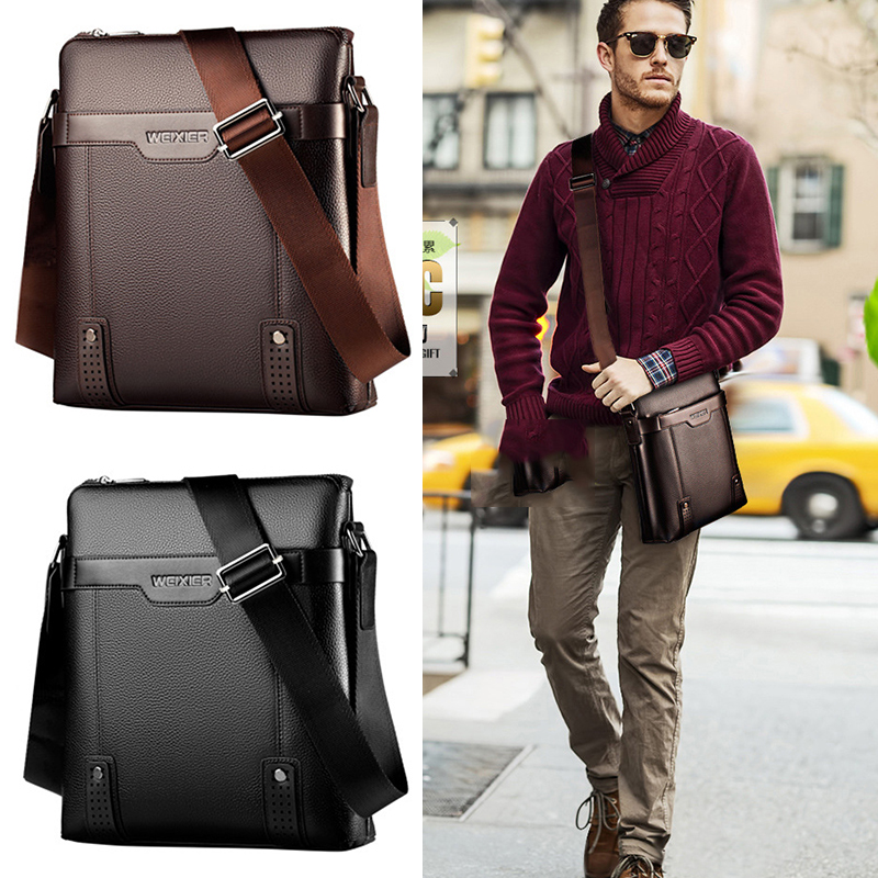 Men/'s PU Leather Handbag Shoulder Messenger Bag Lawyers Hand Carry Briefcase New