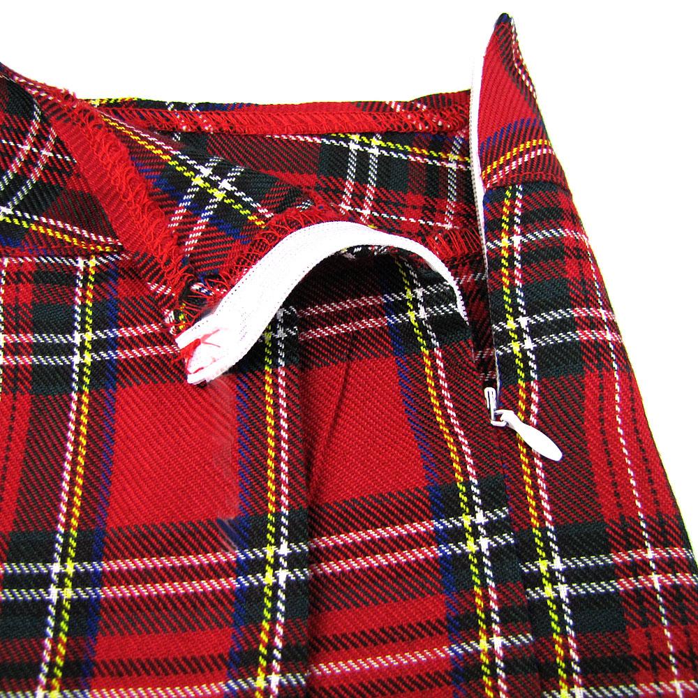 Frauen Plaid Schulmädchen Rock Rot Plissee Minikleid Short Dance Cosplay Kostüme