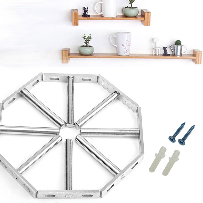 3//8Pcs Concealed Floating Hidden Wall Shelf Support Metal Brackets Kit 3 Sizes