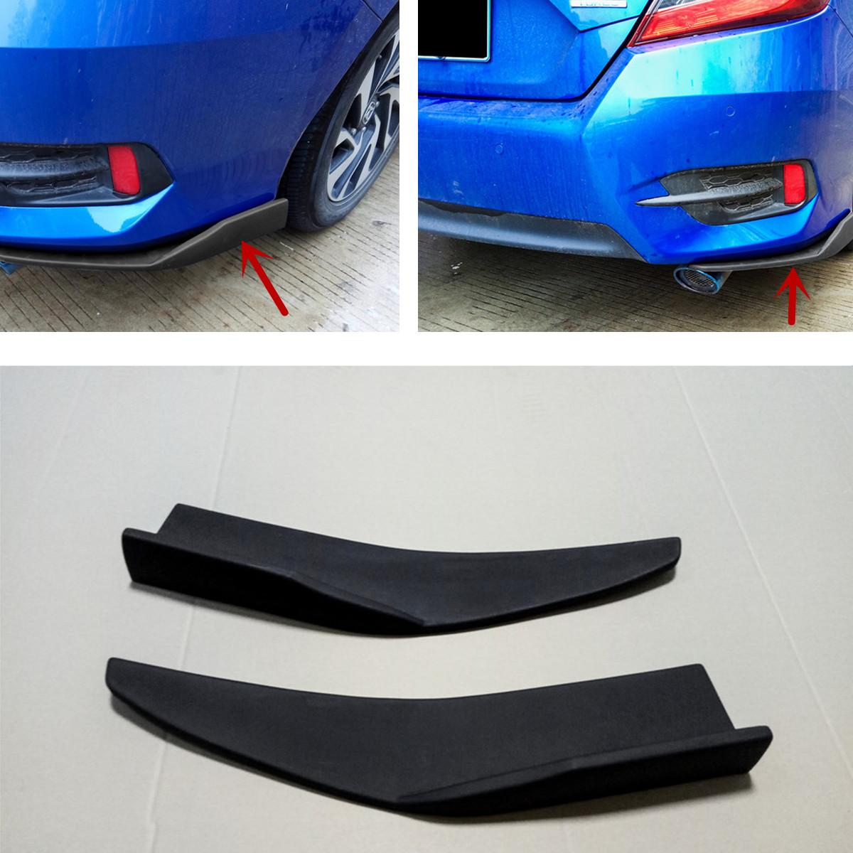 ABS NEW Auto Car Bumper Spoiler Rear lip Canard Diffuser Anti-crash Black