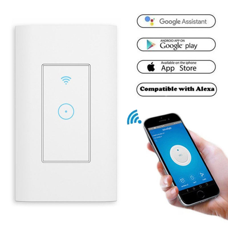 Details about Smart LED Light WiFi Wall Touch Switch Way Work For Alexa  Google Life Home IFTTT