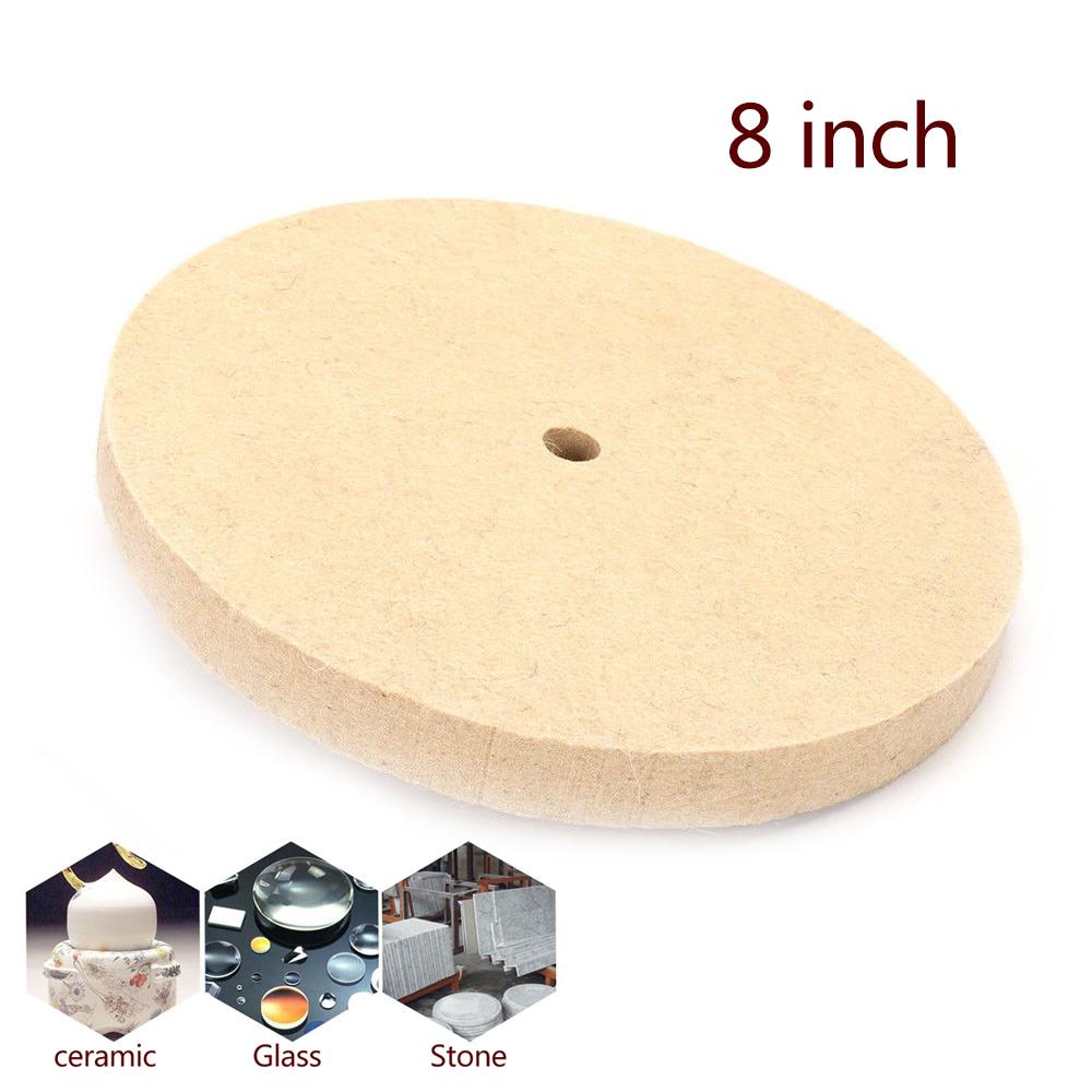 6 inch Wool Felt Buffing Wheel Polishers Pad For Wood Metal Polishing 150x25mm