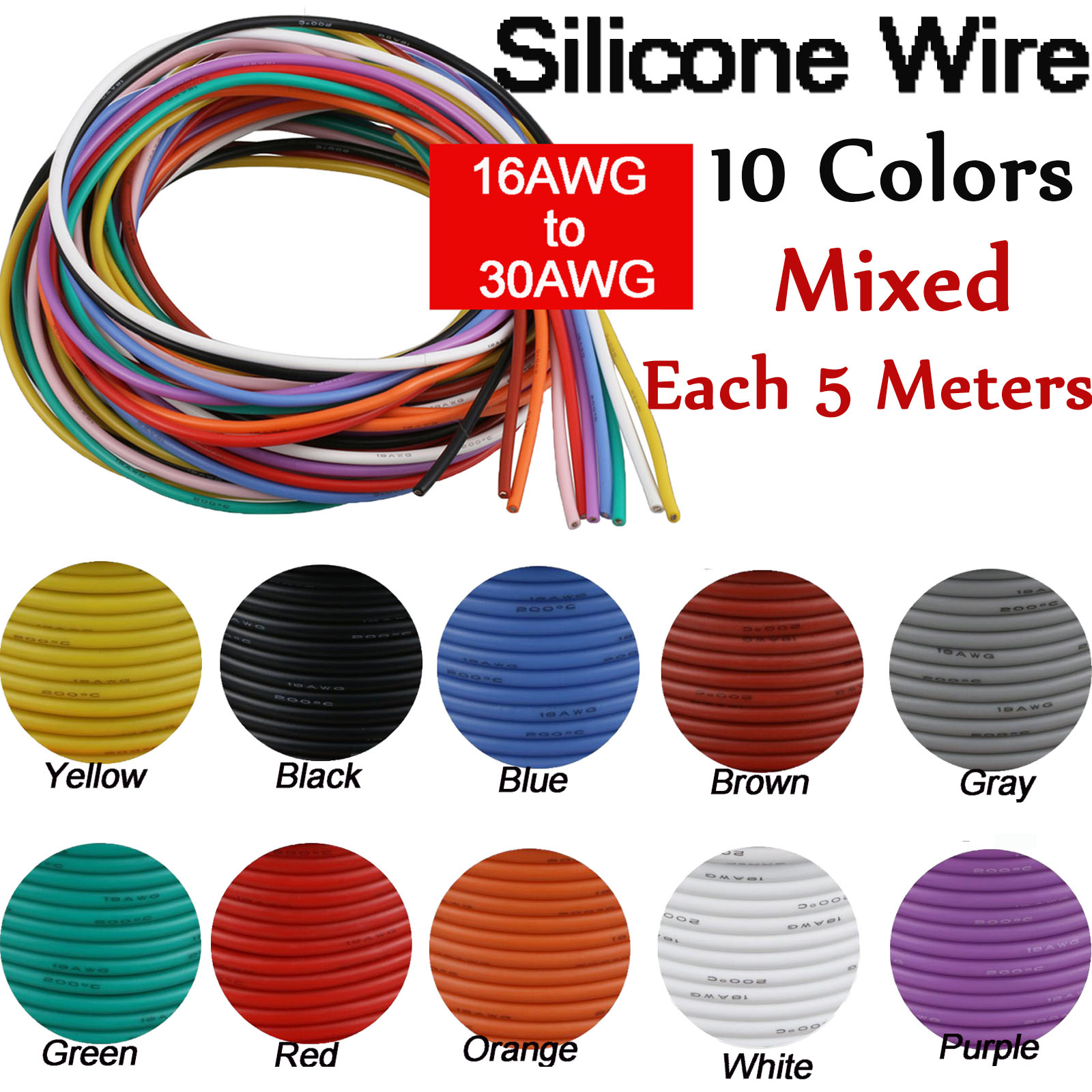 Electronic 10 meter 0.25mm Copper Wire OK Line 30AWG GREEN NC036