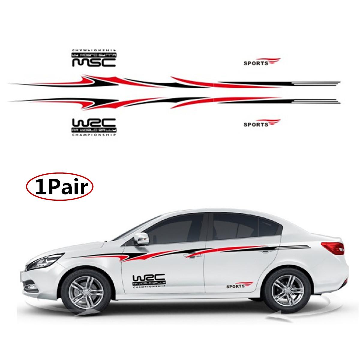 Universal Racing Stripe Graphic Sticker Auto Car Body Side Door Vinyl Decals DIY