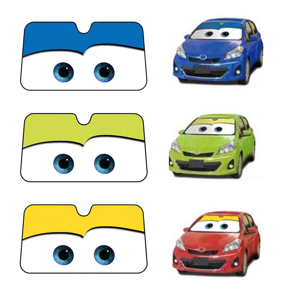 Details about Pixar Cars Lightning McQueen Front Car Windshield Auto Car Sun  shade Sun Visor c956057d937