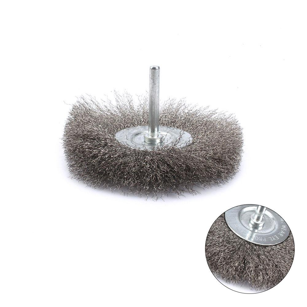 5 Pcs 3MM Shank Nylon Bristle Wheels Cleaning Brush Kit Soft Jewellery Polishing Buffing Wheels Abrasive Brush Buffing Polishing Rotary Tool