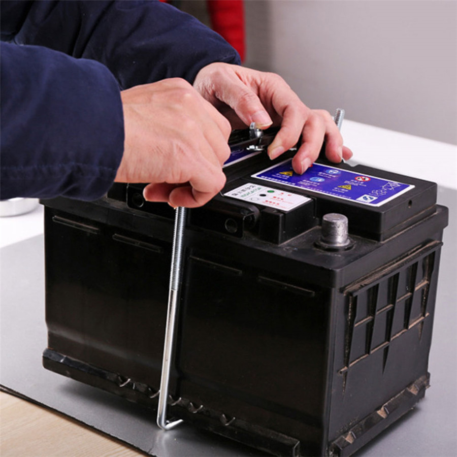 Universal Car Storage Battery Holder Stabilizer Metal Rack Mount Bracket Stand