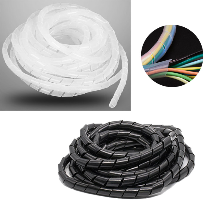 2M Universal Flexible Cord Organizer Wire Management Protector Tube Spiral Cable Tidy Sleeves HaavPoois Cable Tidy Sleeves 16mm