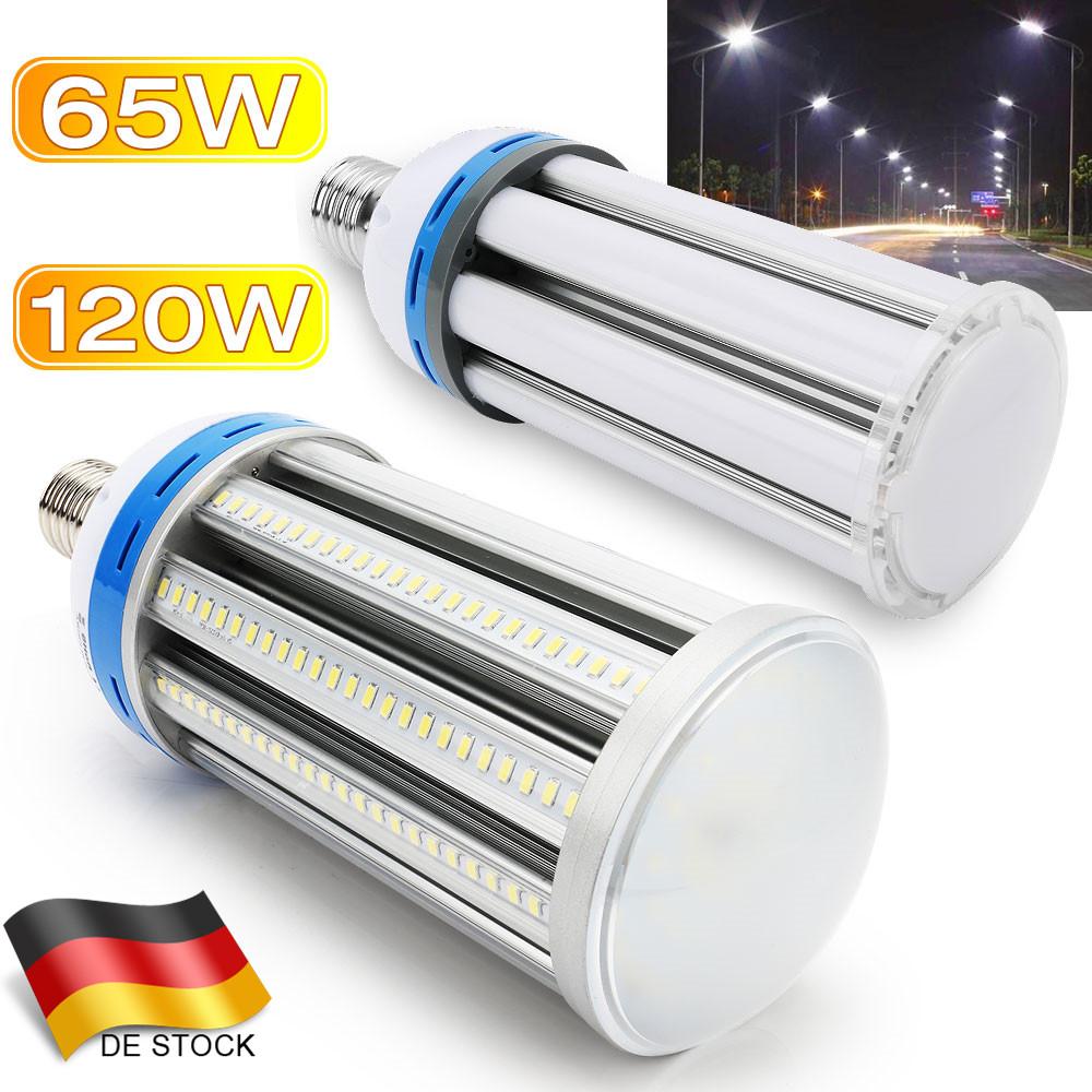 E40 E27 65W LED Mais Leuchtmittel Fluter High Bay Licht Strahler Kaltweiß 8900LM
