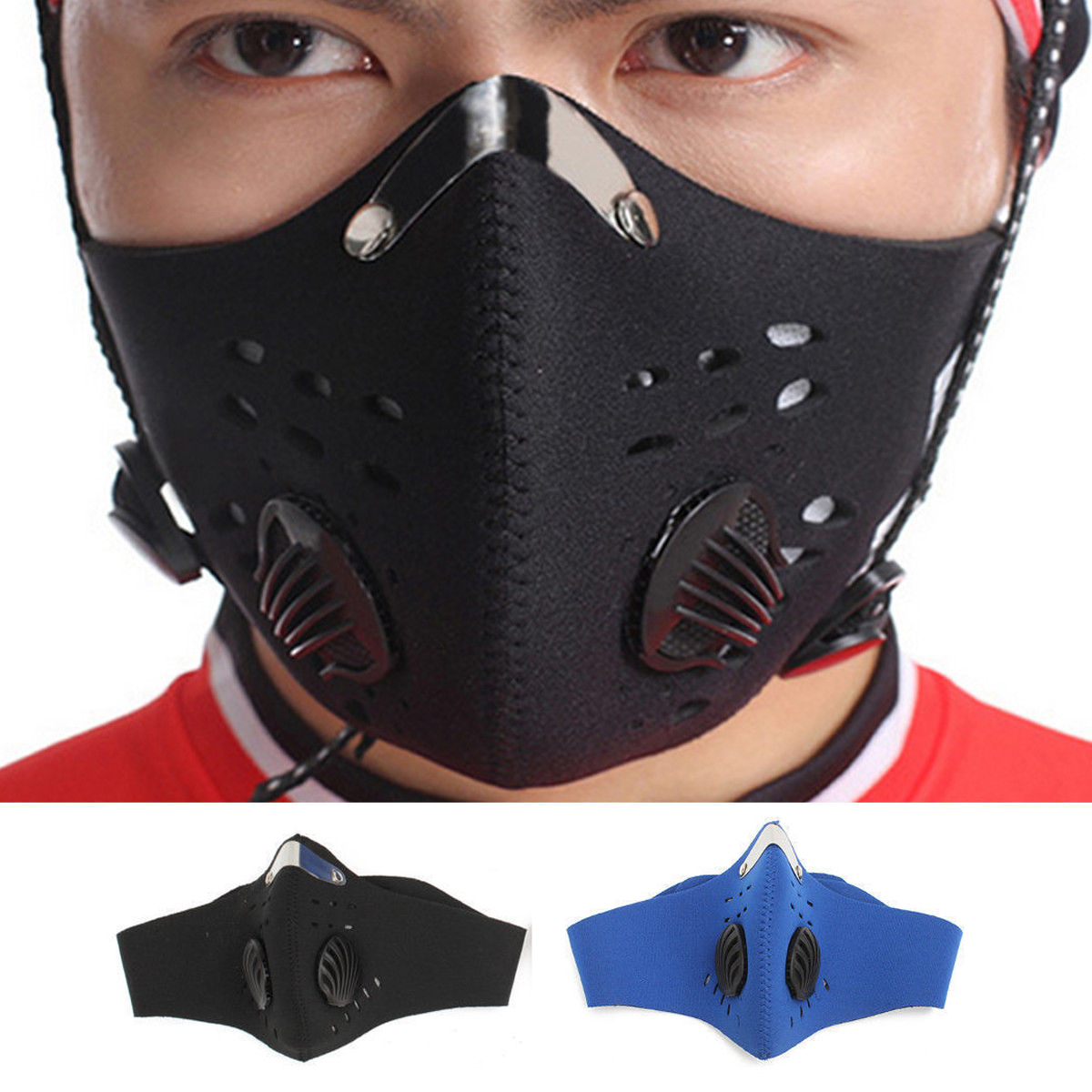 Cover Reusable About Mask Face Half Anti-dust Details Cyclist Carbon Activated Mesh Filter Au