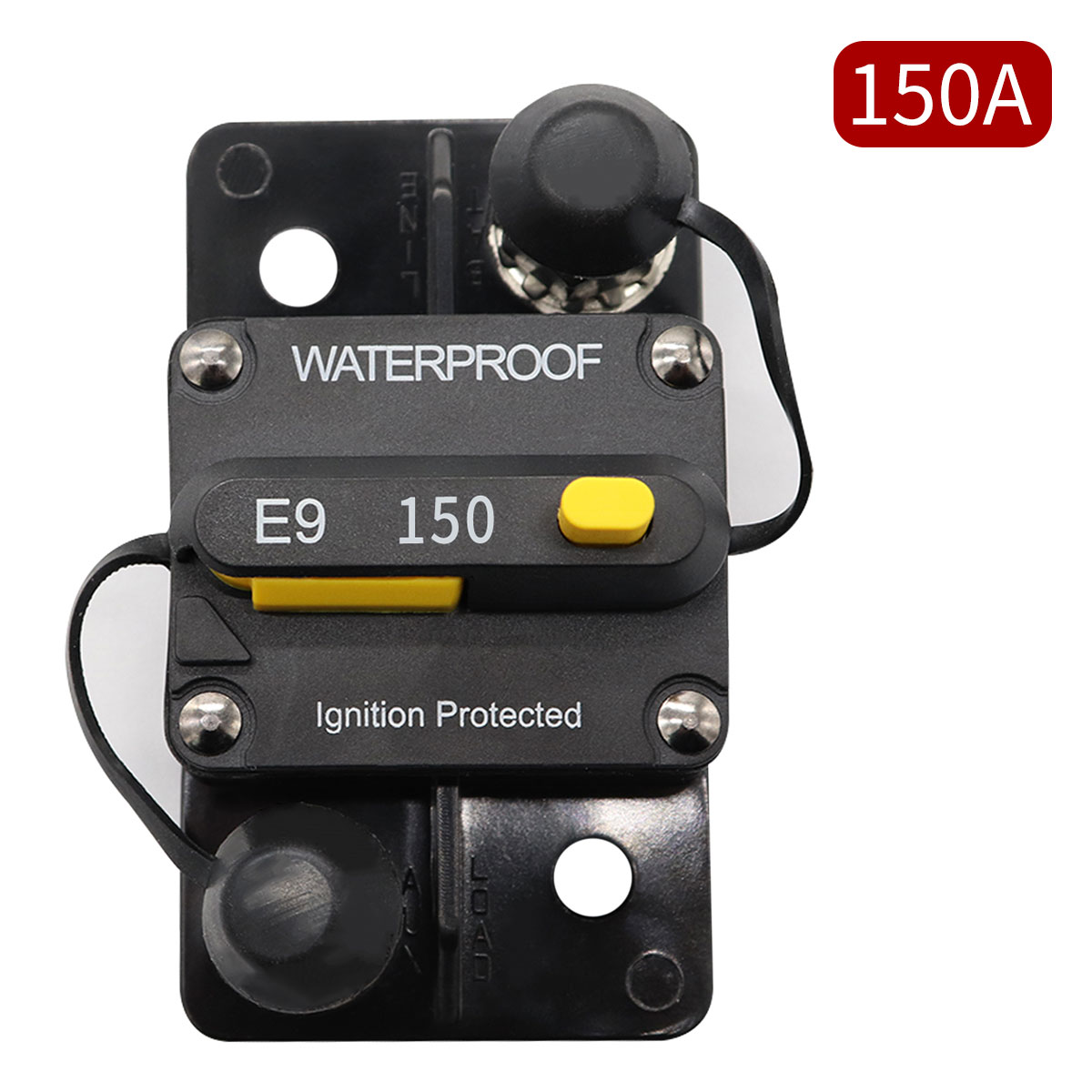 48V DC PHOTO-TOP 30A-150A Circuit Breaker Panel Mount with Manual Reset for Marine Auto Truck ATV 12V