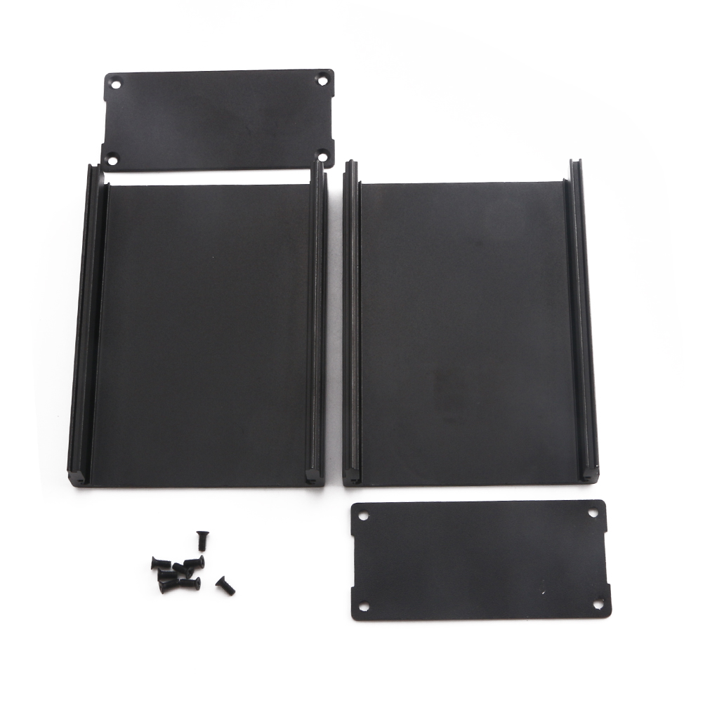 100*25*25mm Extruded PCB Aluminum Box Black Enclosure Electronic Project Case  Y
