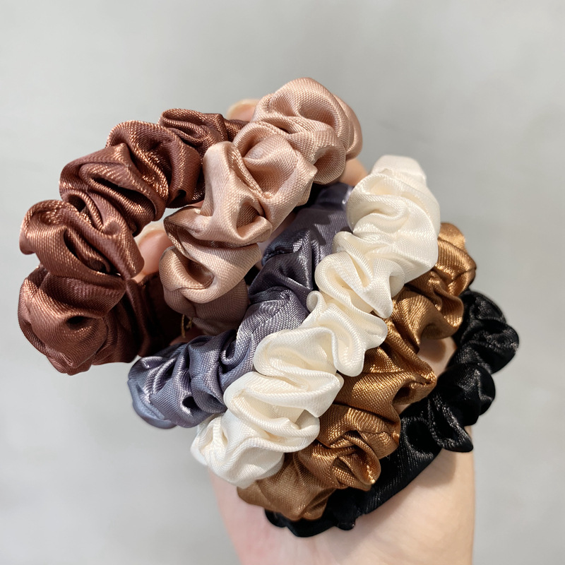 6 Pcs Satin Silk Scrunchies Elastic Hair Bands Scrunchy Bobbles Hair Ropes Rings