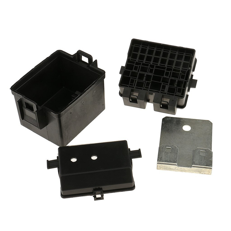 2 Way Circuit Car Relay Blade Fuse Box Holder Kits With 8 Pieces Adapter For Automotive Adapters
