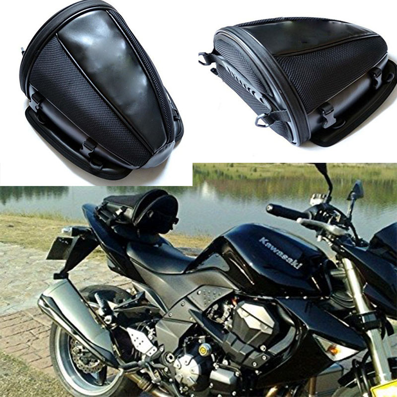40cec05f9c36 Details about Motorcycle Bike Sports Back Seat Carry Bag Luggage Tail Bag  Saddlebag Waterproof