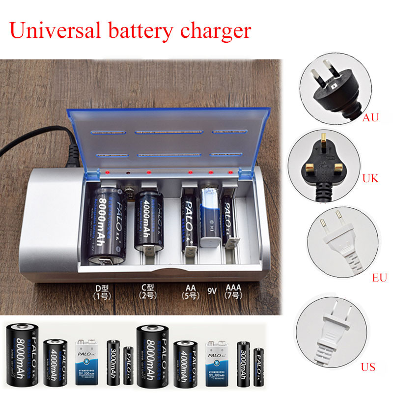 Details about Universal Battery Charger for Rechargeable Batteries on