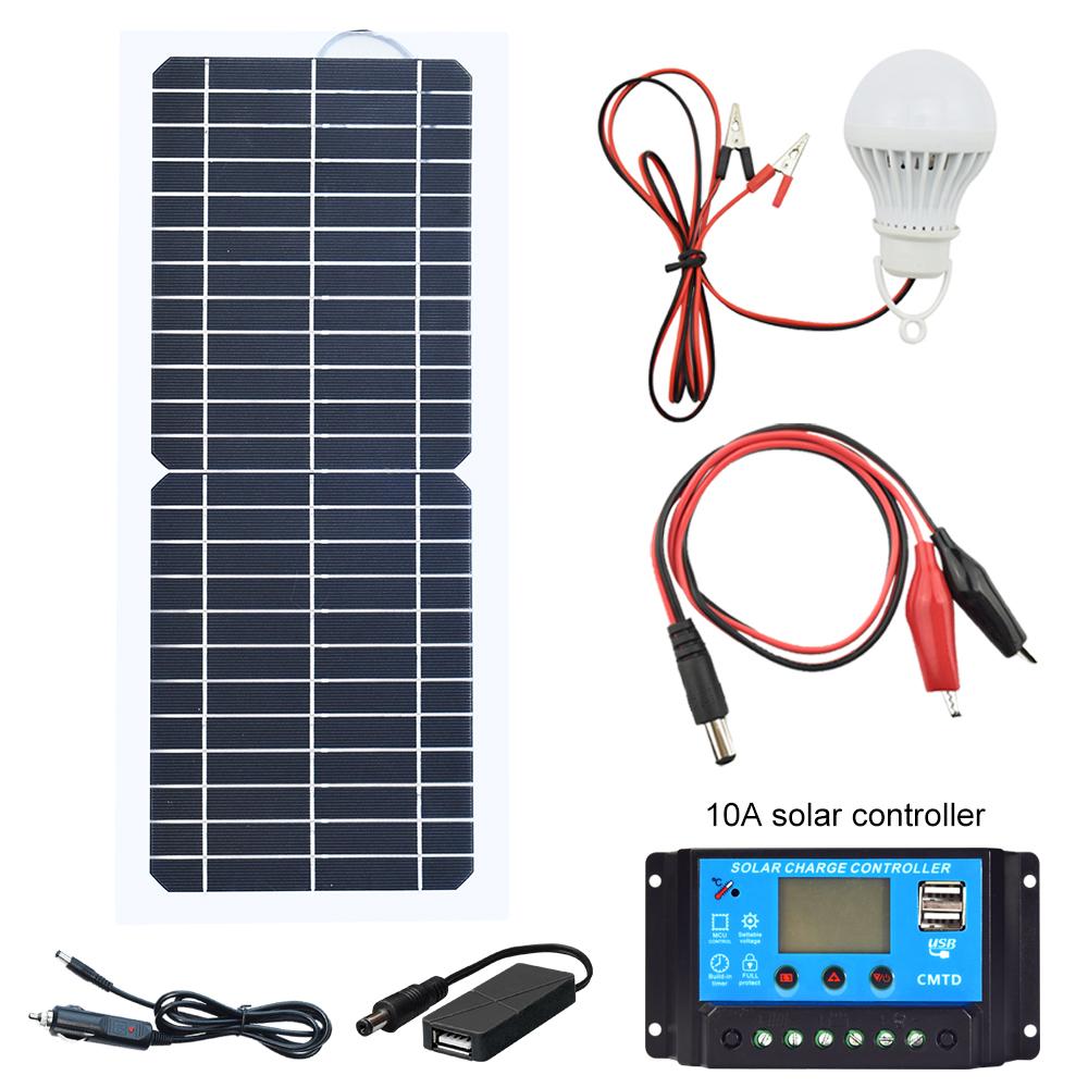 30 W 18 V Mono Panneau Solaire Système pour véhicules récréatifs voiture bateau home Camping 12 V batterie chargeur