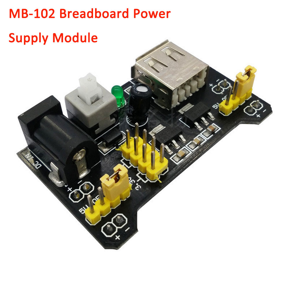 MB102 Breadboard Power Supply Module F Arduino 2 Road Control Switch 0V//3.3V//5V