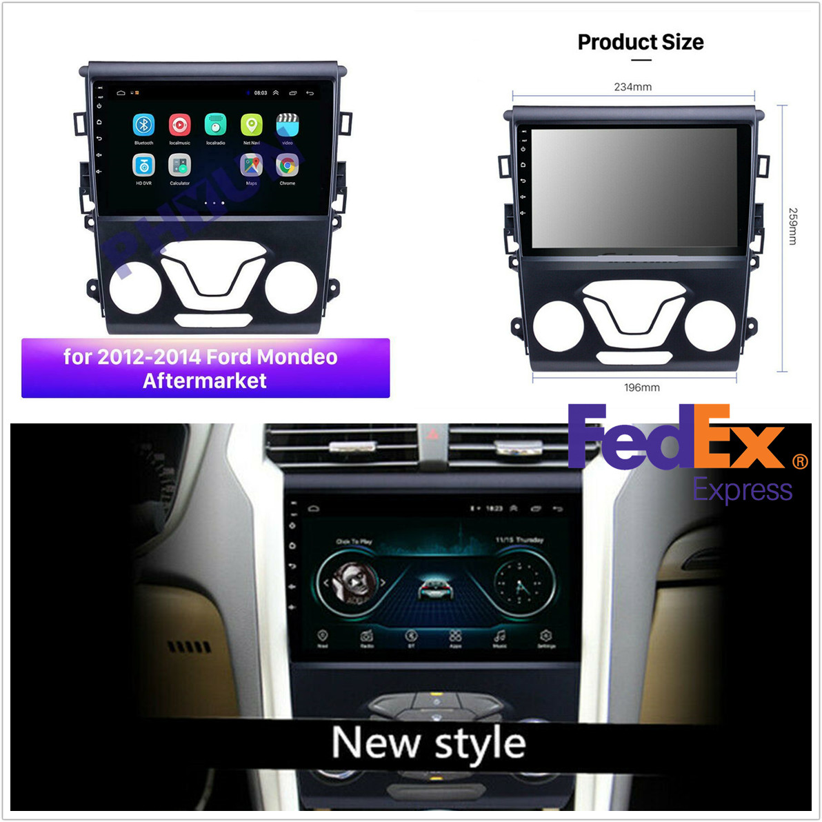 9 Android 9 1 Car Radio Gps Navigation Dvd Player For Ford Fusion Mondeo 12 14 Ebay