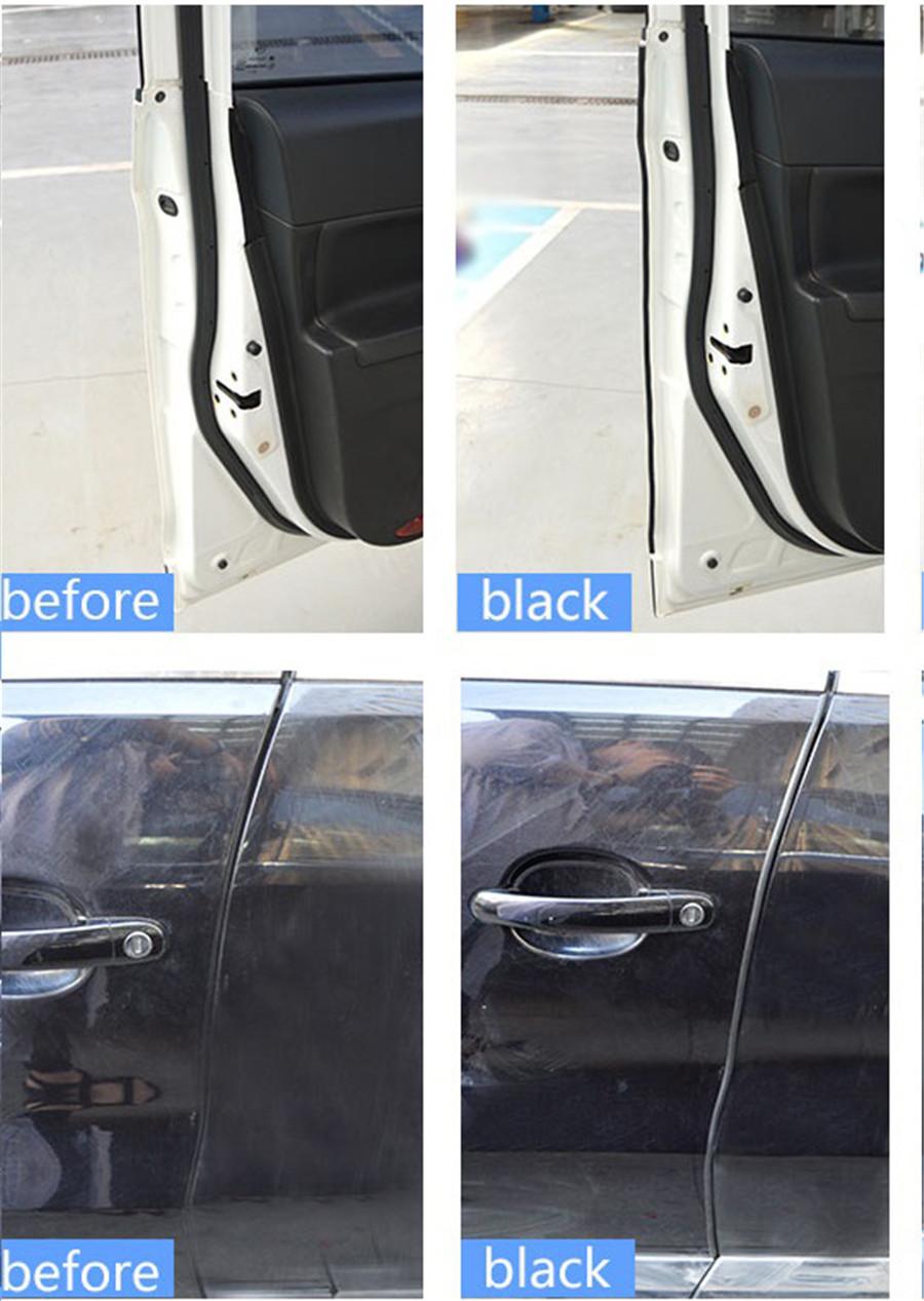 16ft Black Car Bumper Hood Door Edge Guard Rubber Seal Weather Strip Protector
