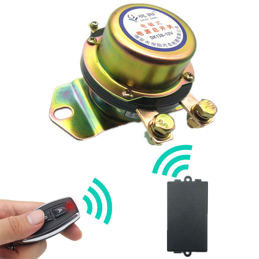12v Car Remote Control Battery Switch Disconnect Anti