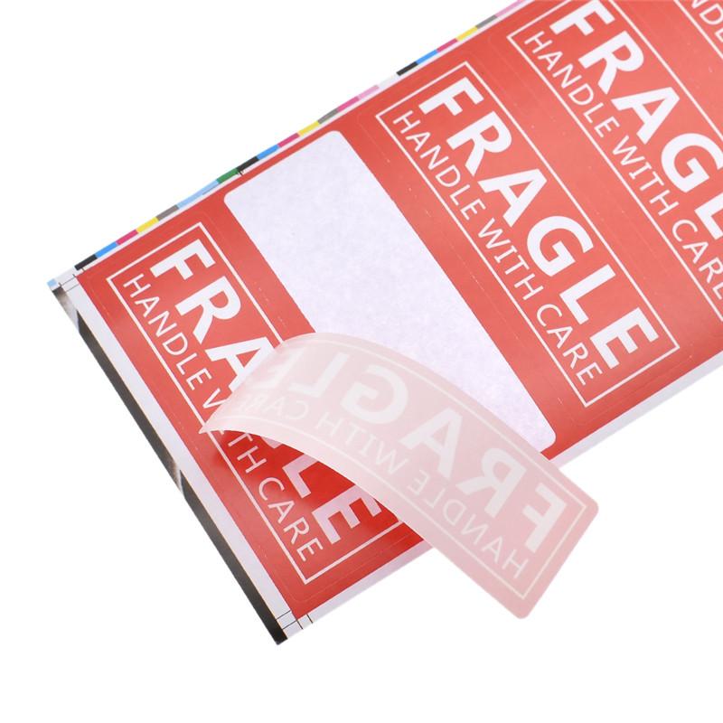 Label 200x Fragile Aufkleber Sticker Etikett Vorsicht