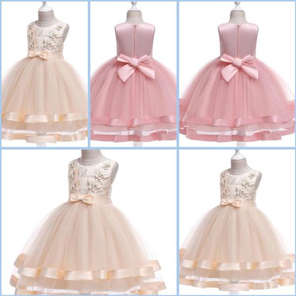 Girl wedding formal kid baby tutu bridesmaid dresses princess party dress flower